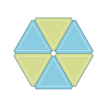 """Studio Equilateral Triangle-4 3/8"""" Sides (3 1/2"""" Finished)-0"""