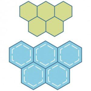 Studio Paper Piecing Hexagons-1