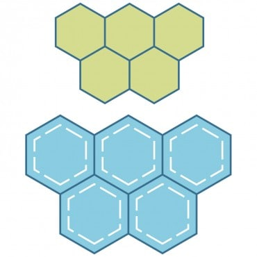 "Studio Paper Piecing Hexagons-1"" Sides (3/4"" Finished) (2-Die Set)-0"