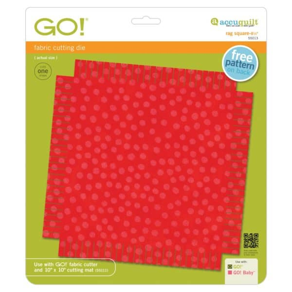 "GO! Rag Square-8 1/2"" (55013) pkg"