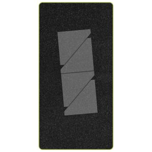 "GO! Half Square-2 1/4"" Finished Triangle (AQ55147) - Two Tone Foam"