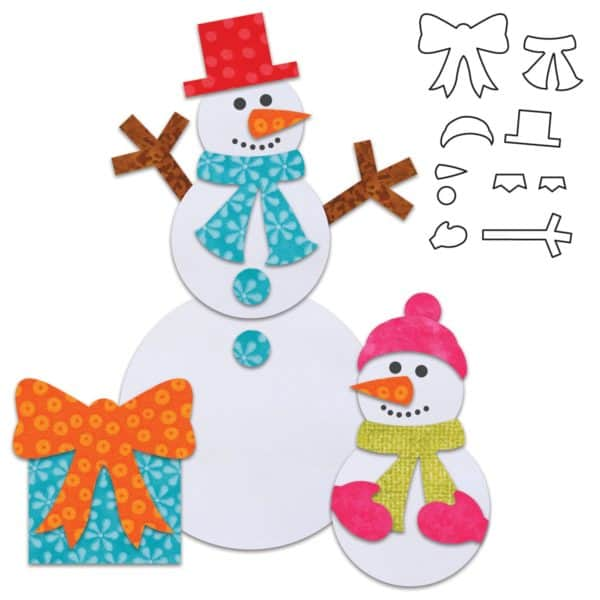 """GO! Holiday Accessories (AQ55321) - used with GO! Circle 2"""", 3"""", 5"""" to make snowmen"""