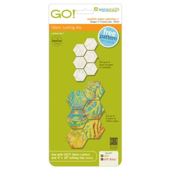 """GO! English Paper Piecing Hexagon-1/2"""" Finished Sides-0"""