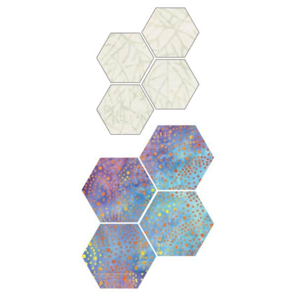 """GO! English Paper Piecing Hexagon-1"""" Finished Sides-1786"""