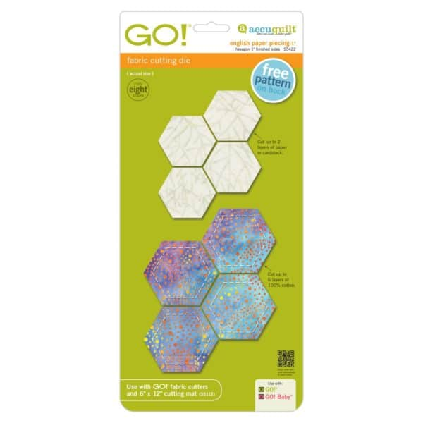 """GO! English Paper Piecing Hexagon-1"""" Finished Sides-0"""