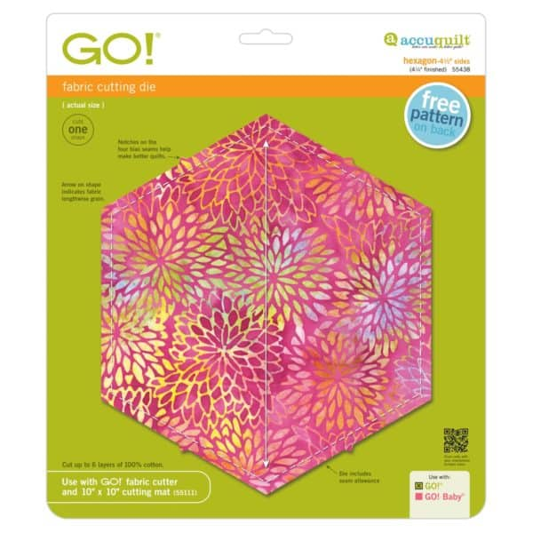 """GO! Hexagon-4 1/2"""" Sides (4 1/4"""" Finished)-0"""
