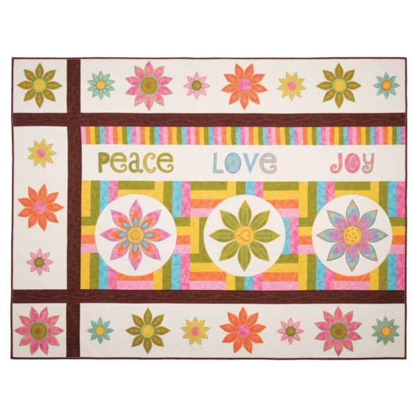 Peace, Love & Joy Quilt, created using the Peace, Love & Joy Collection CD by Sarah Vedeler (PLJ-01)