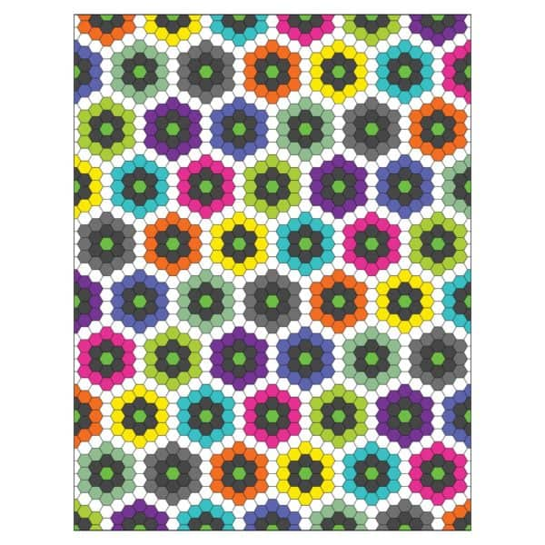 """GO! English Paper Piecing Hexagon-1"""" Finished Sides-1784"""