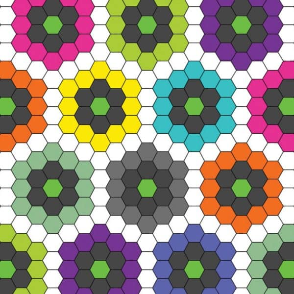 """GO! English Paper Piecing Hexagon-1"""" Finished Sides-1788"""