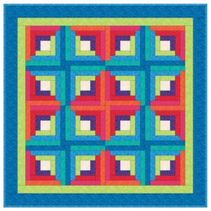 GO! Log Cabin Quilt Pattern-2404