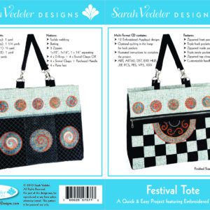Festival Tote Embroidery Designs CD by Sarah Vedeler-0