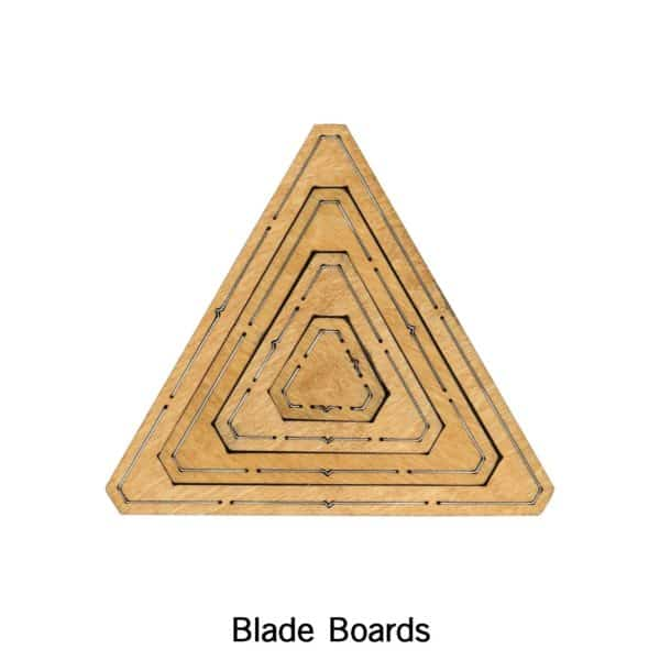 """Bullseye Equilateral Triangles-Odd-1"""", 3"""", 5"""", 7"""" Finished Sides for Studio-2794"""