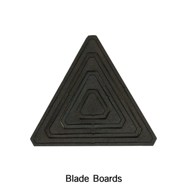 """Bullseye Equilateral Triangles-Odd-1"""", 3"""", 5"""", 7"""" Finished Sides for Studio-2790"""
