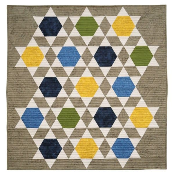 """Bullseye Equilateral Triangles-Odd-1"""", 3"""", 5"""", 7"""" Finished Sides for Studio-2788"""