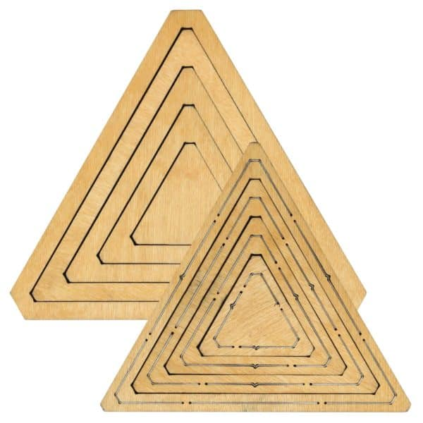 "Bullseye Equilateral Triangles-Even-2"", 4"", 6"", 8"" Finished Sides for Studio-0"