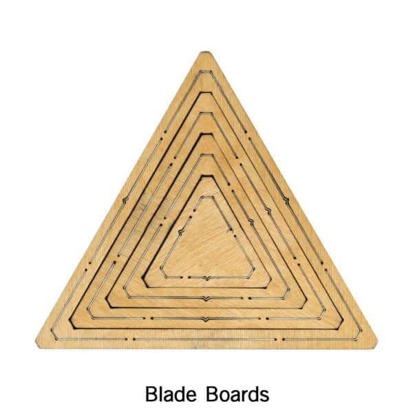 "Bullseye Equilateral Triangles-Even-2"", 4"", 6"", 8"" Finished Sides for Studio-2782"