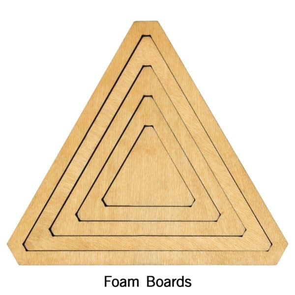 "Bullseye Equilateral Triangles-Even-2"", 4"", 6"", 8"" Finished Sides for Studio-2784"