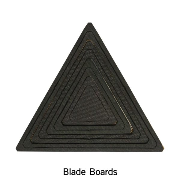 "Bullseye Equilateral Triangles-Even-2"", 4"", 6"", 8"" Finished Sides for Studio-2785"