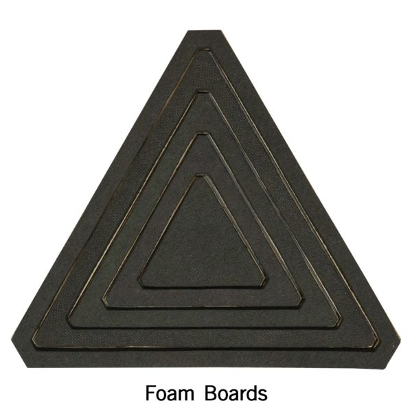 "Bullseye Equilateral Triangles-Even-2"", 4"", 6"", 8"" Finished Sides for Studio-2780"