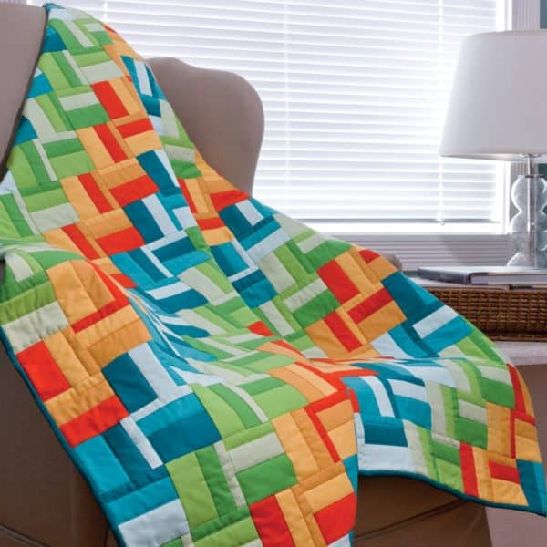GO! Scrappy Rail Fence Quilt -0