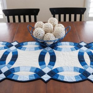 GO! Classic Double Wedding Ring Table Runner -0