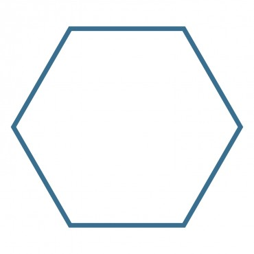 """Studio Hexagon-3 3/4"""" Sides (3 1/2"""" Finished) (Clear Cuts)-0"""