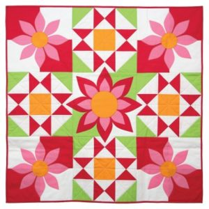 GO! Awesome Blossom Wall Hanging Pattern (close-up)