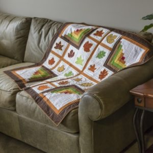GO! Quilted Leaves and Logs Wall Hanging Pattern (Lifestyle)