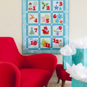 GO! 12 days of Winter Bliss Wall Hanging (lifestyle)