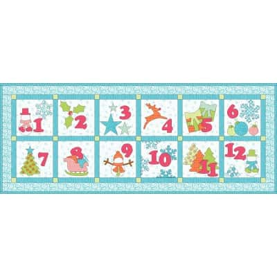 GO! 12 days of Winter Bliss Wall Hanging (alternate layout)