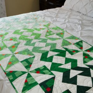 GO! Spring Rain Bed Runner Pattern