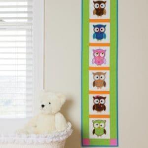 GO! Hoot Hoot Hooray! Wall Hanging Pattern