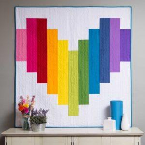 GO! Piece of My Heart Strip Quilt Pattern