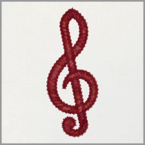 Treble clef motif