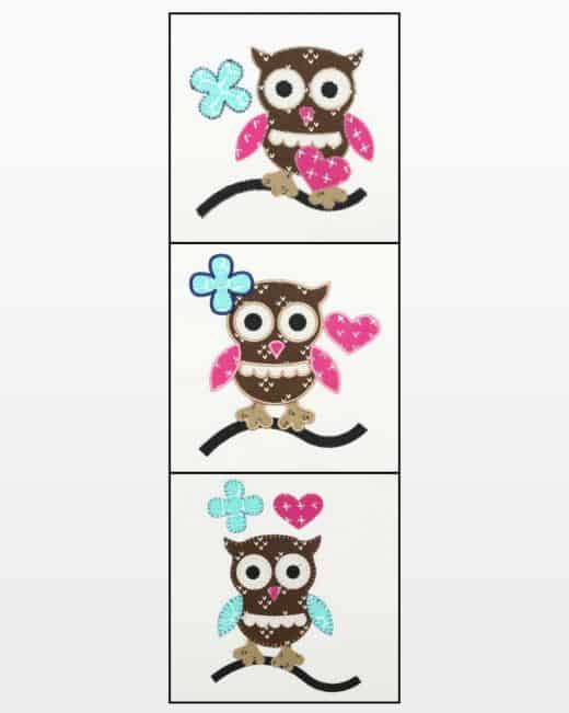 GO! Owl Accessories Embroidery Designs - AccuQuilt