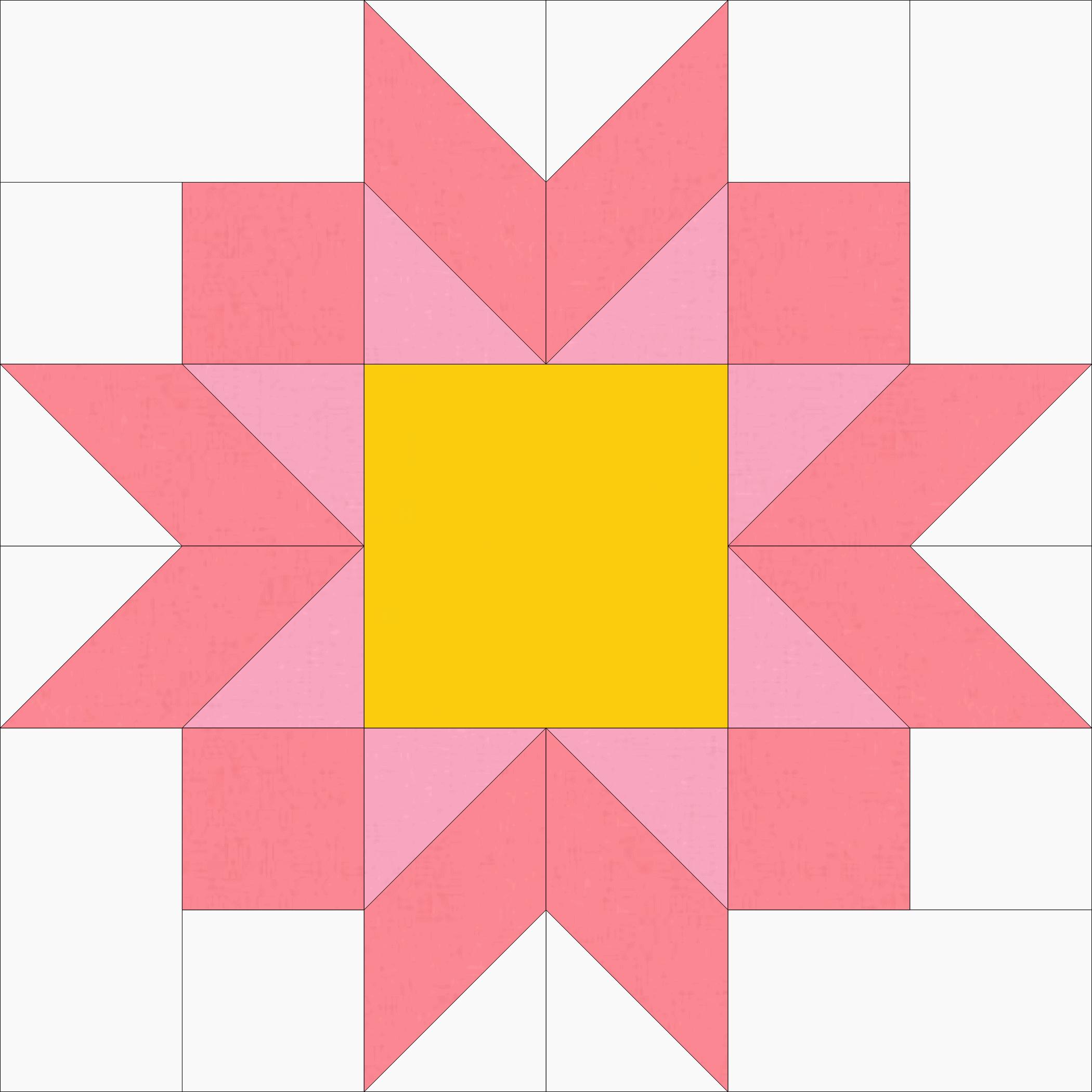 Petals Block of the Month 9