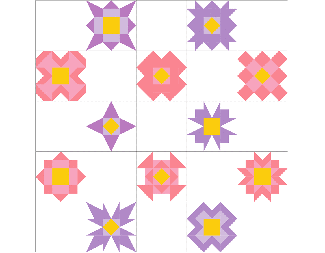 Petals – Block of the Month Finishing