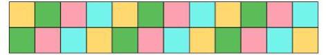 4 Patch Border adding 2 colours 1